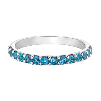 Ladies Stackable Blue Topaz Band