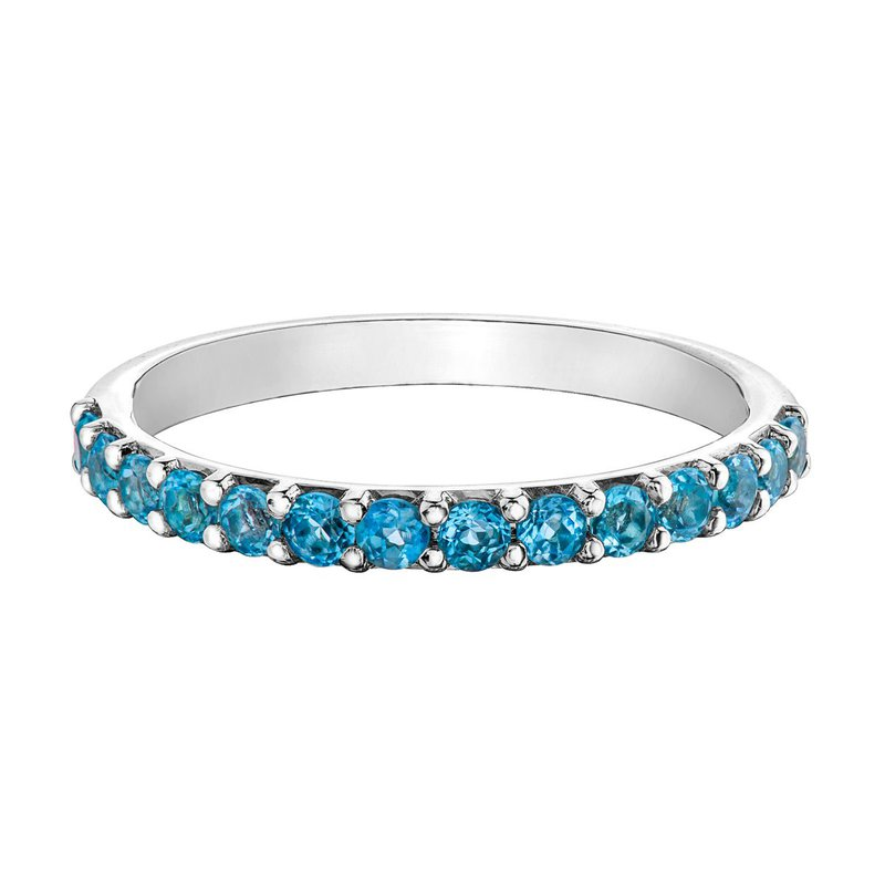 Ashley Ladies Stackable Blue Topaz Band