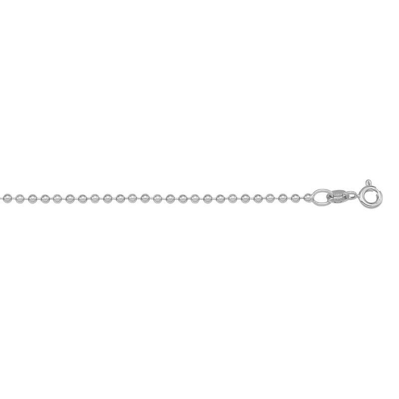 "Ashley 1.2 mm Bead Chain In Platinum - 18"""