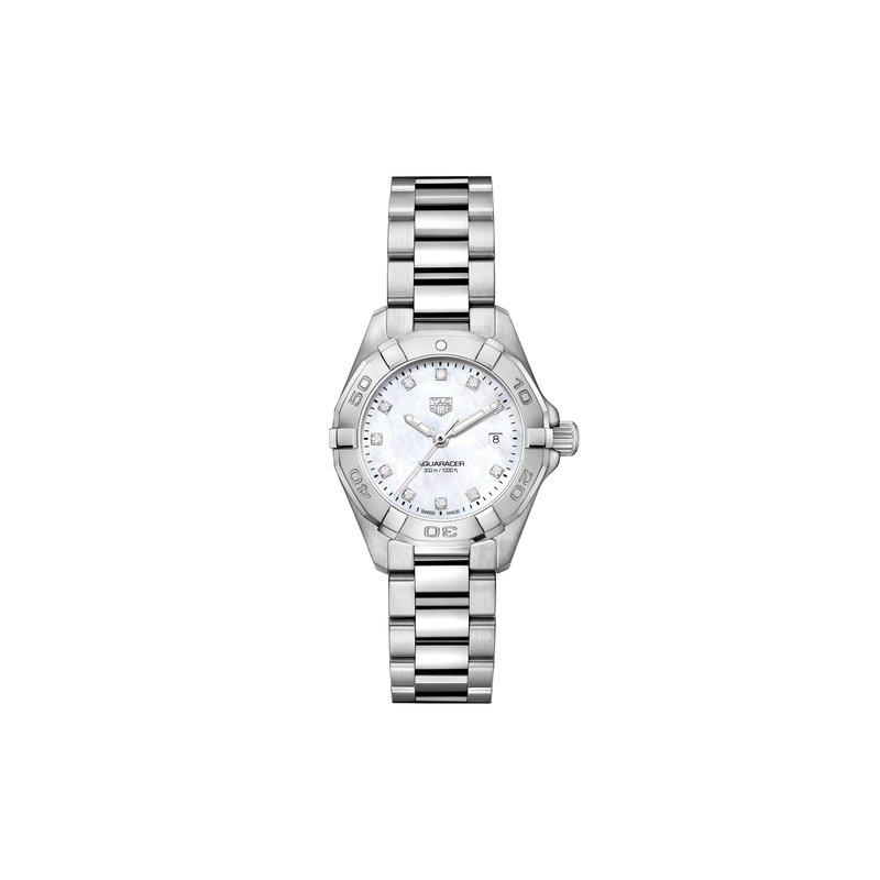 TAG Heuer Aquaracer Quartz Watch 27mm White MOP diamond dial, bracelet