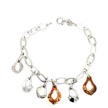 SterlingSilver & Rose Gold Plated Bracelet