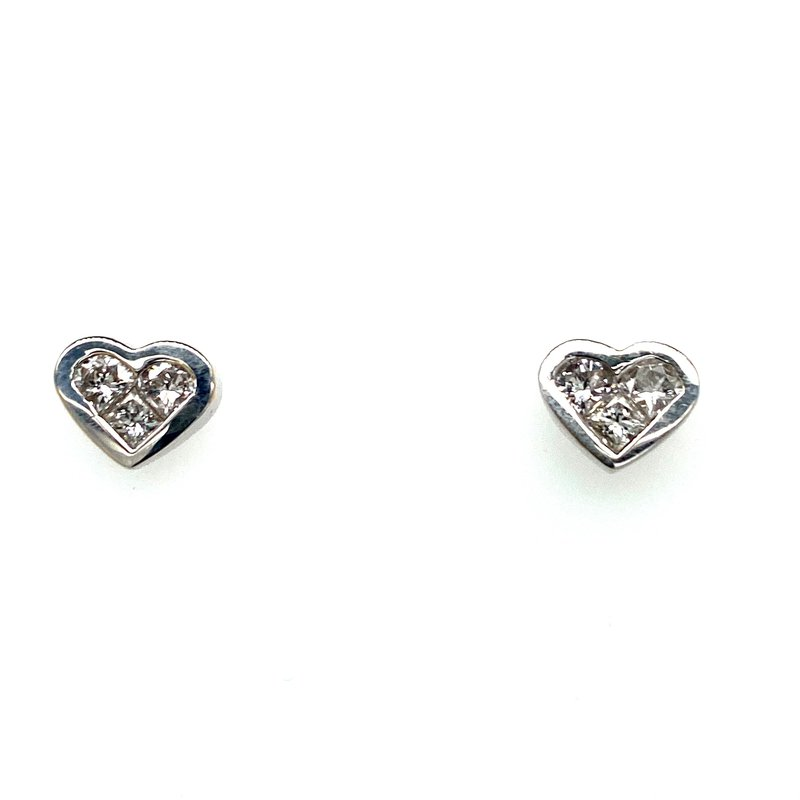 Ashley .66 carat Diamond Heart Earring