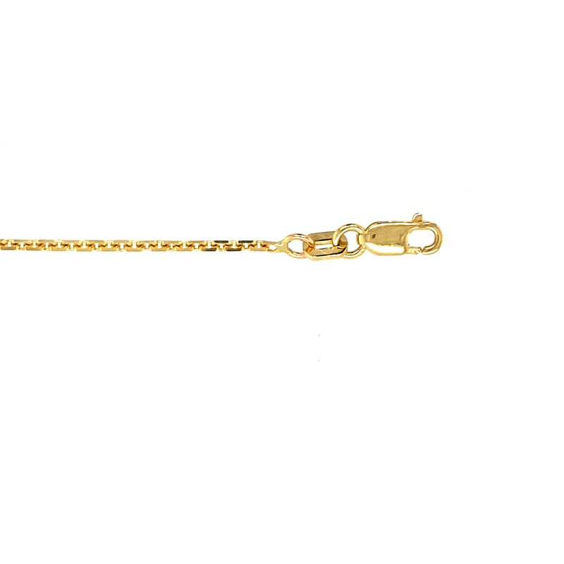 """Ashley 1.5mm Oval Link Chain in 14kt Gold - 22"""""""