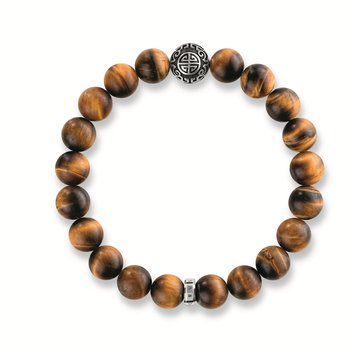 Ethnic Tiger's Eye Brown Beaded Bracelet