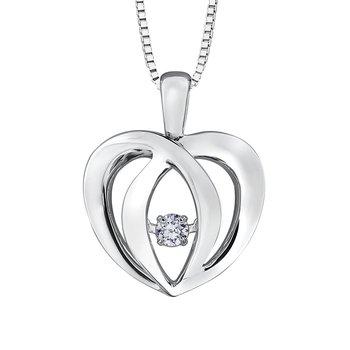 Diamond Pulse Necklace Heart