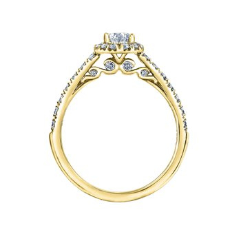 .91carat Total Weight Engagement Ring