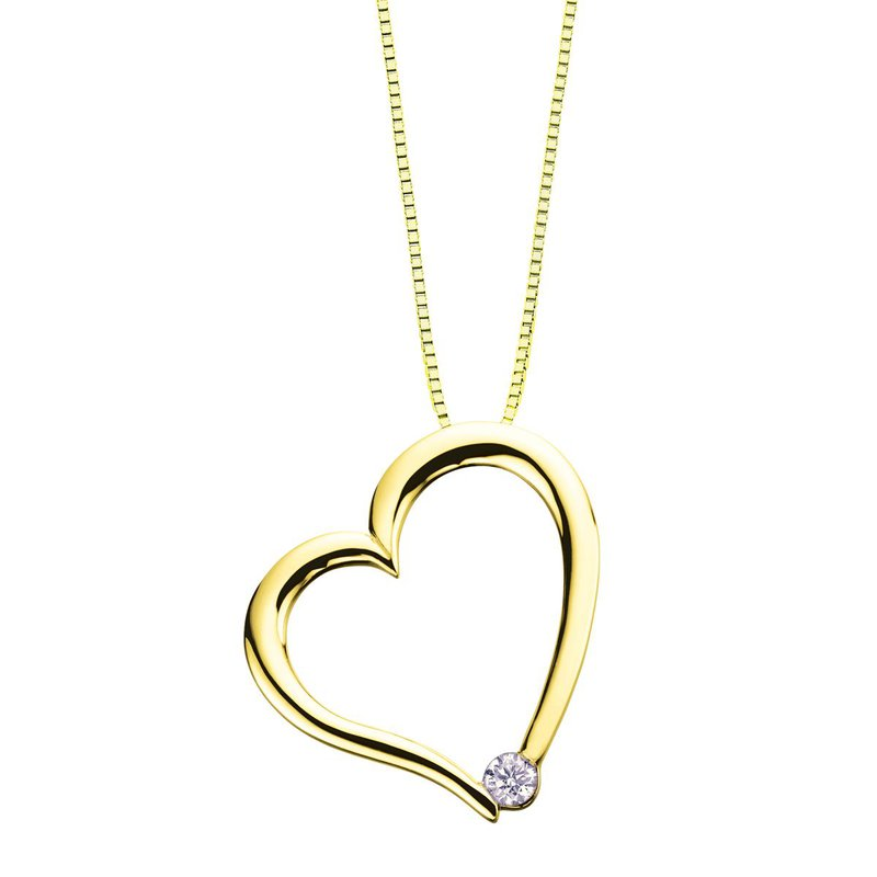 Ashley Canadian Diamond Heart Necklace