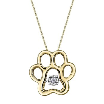 Paw Print Pulse Necklace