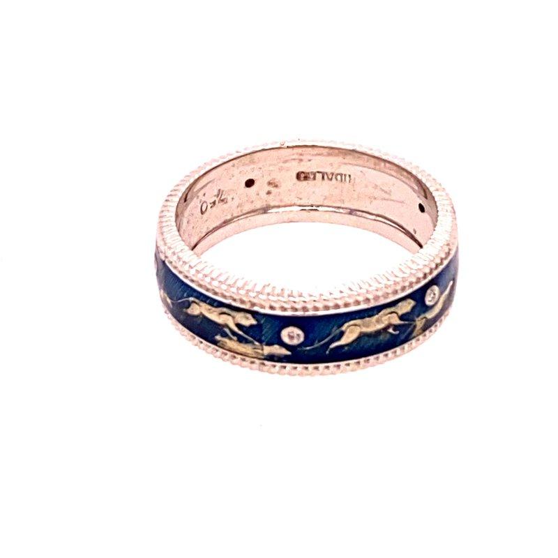 Ashley Blue Enamel Ring