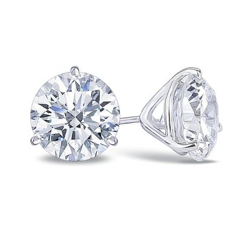 1.00 Carat Ideal Cut Stud Earrings