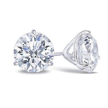 1.00 Carat Ideal Cut Stud Earrings