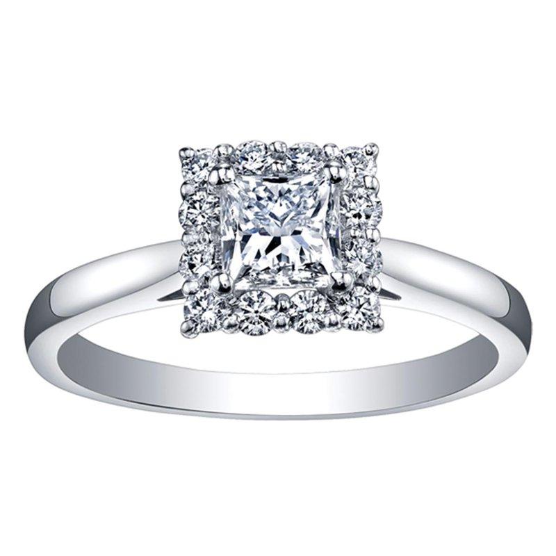 Ashley Halo Semi- Mount Engagement Ring