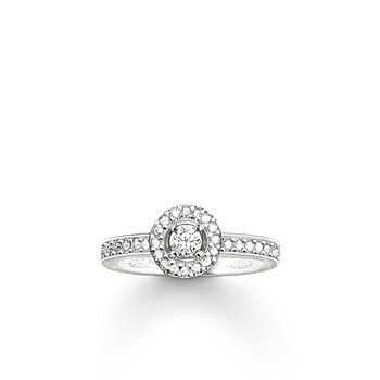 Zirconia Halo Ring