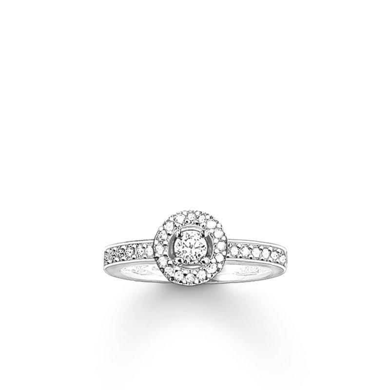 Thomas Sabo Zirconia Halo Ring