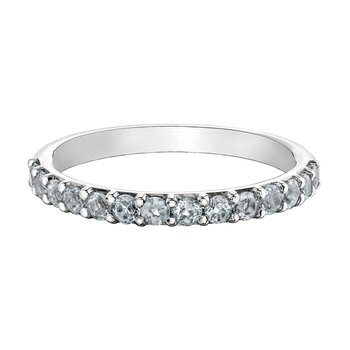 Ladies Stackable White Topaz Band