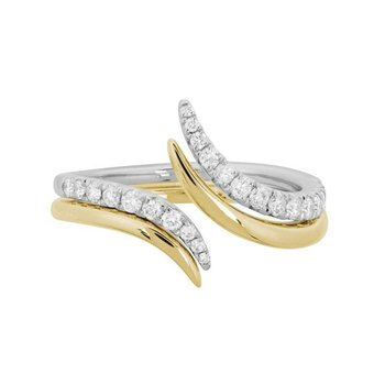Diamond Fashion Bypass Ring