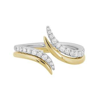 Diamond Fashion Bypass Ring
