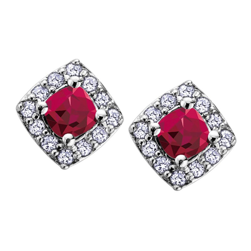 Ashley Ruby Stud Earrings