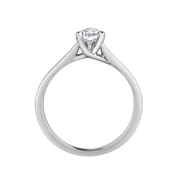 14k White Gold Pear Cut Diamond Solitare Engagement Ring