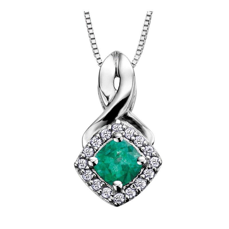 Ashley Emerald & Diamond Necklace