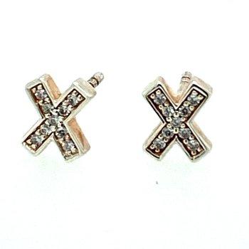 Zirconia X Stud Earrings