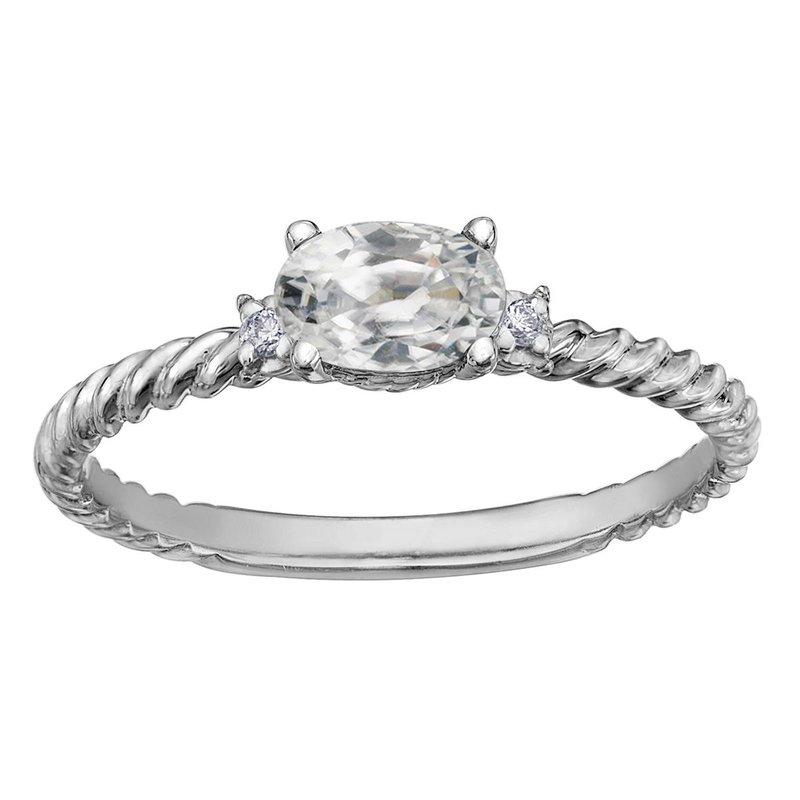 Ashley White Topaz & Diamond Ring