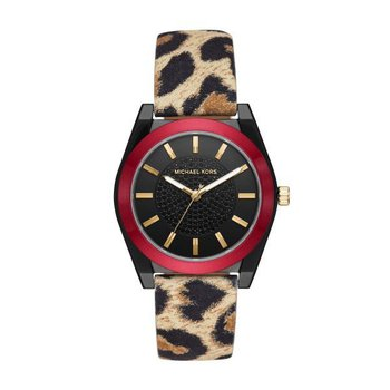 Channing Leopard-Print Leather Watch