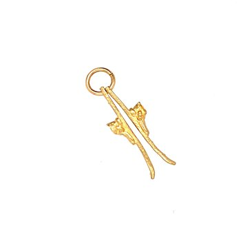 Yellow Gold Ski Charm