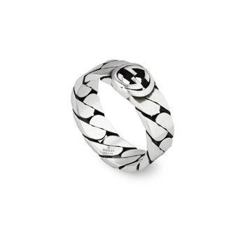 Interlocking G Sterling Silver 6mm Ring YBC661513001 Size 7.25 (15)