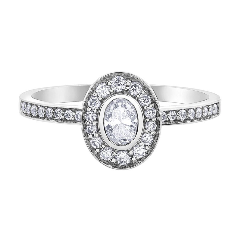 Ashley Oval Cut Engagement Ring