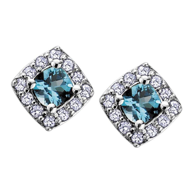 Ashley Blue Topaz Stud Earrings