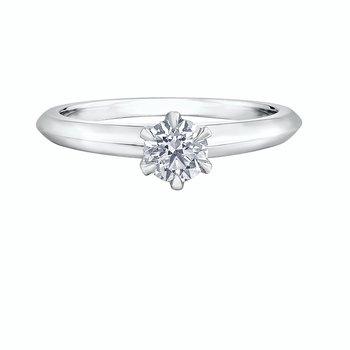 Solitaire Platinum Diamond Ring