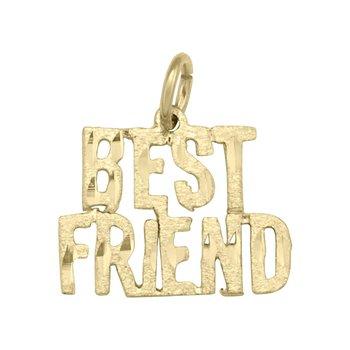 "10kt Yellow Gold ""BEST FRIEND"" Charm"