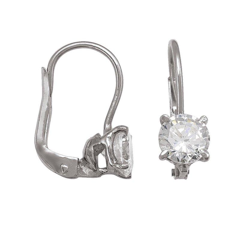 Ashley Lever Back CZ Earrings