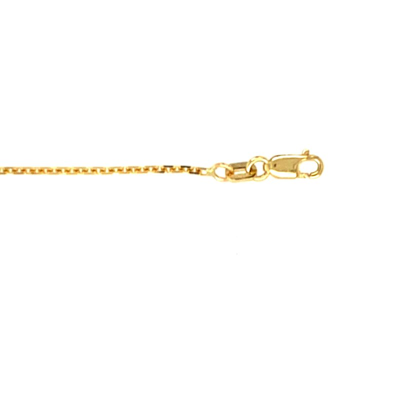 """Ashley 1mm Oval Link Chain in 14kt Gold - 16"""""""