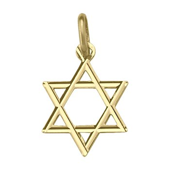 10kt Yellow gold Star of David
