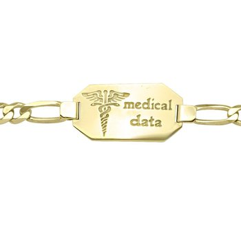 Men's Medical Data Bracelet