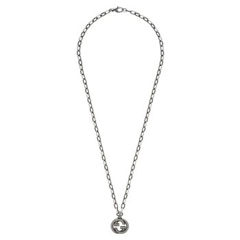 Silver necklace with Interlocking G