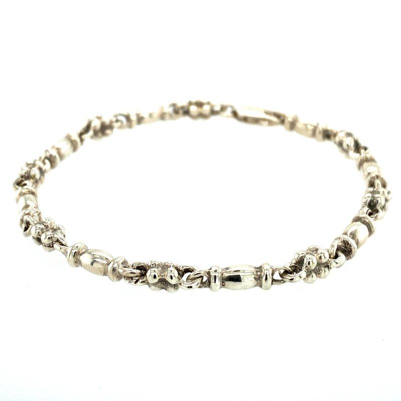 Ashley Silver Fancy Link Bracelet