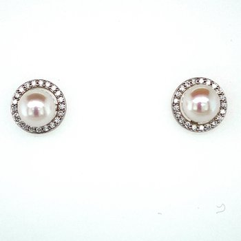 Akoya Pearl & Diamond Jacket Studs