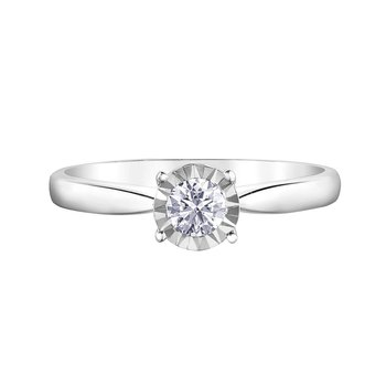 10k White Gold Timeless Engagement Ring