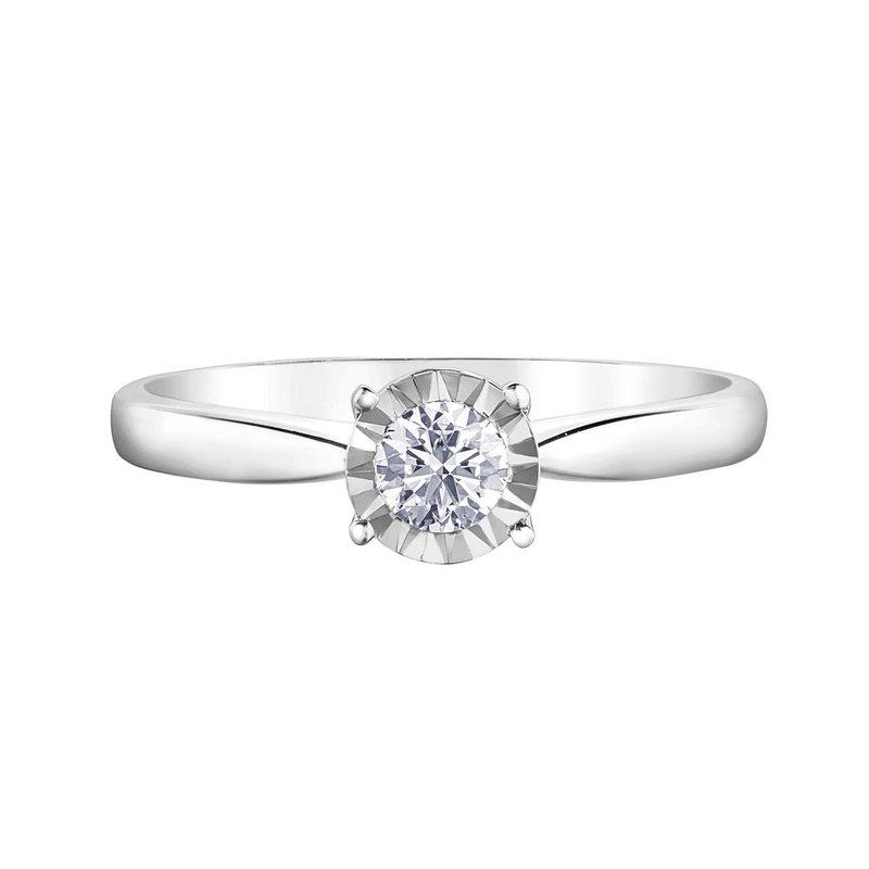 Ashley 10k White Gold Timeless Engagement Ring