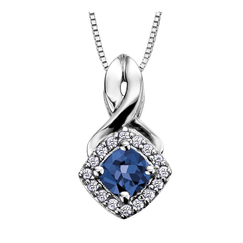 Ashley Sapphire & Diamond Necklace