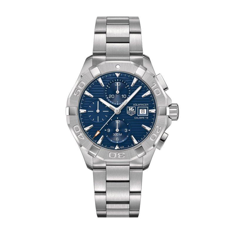 TAG Heuer Aquaracer Calibre 16 automatic chronograph 43mm Blue dial, bracelet