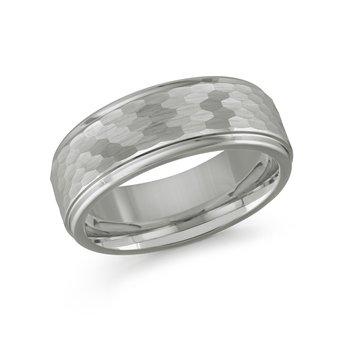 8mm Tungsten Wedding Band Size 10.5