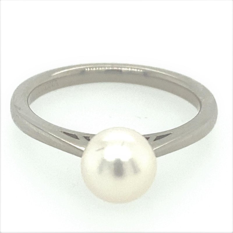 Ashley 7mm Cultured Pearl Solitaire Ring