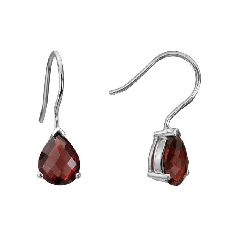 Ashley Garnet Drop Earrings