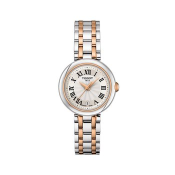 Bellissima Small Lady White Dial Stainless Steel Watch, 26mm - T1260102201301