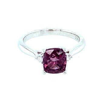 Pink Spinel & Diamond Ring