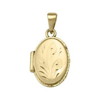 Yellow Gold Oval Locket